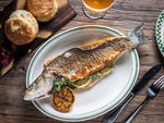 THE DERBY wild caught branzino de-boned with herbs and grilled lemon