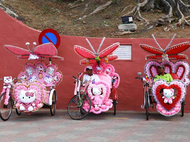 Malacca Red Square trishaws