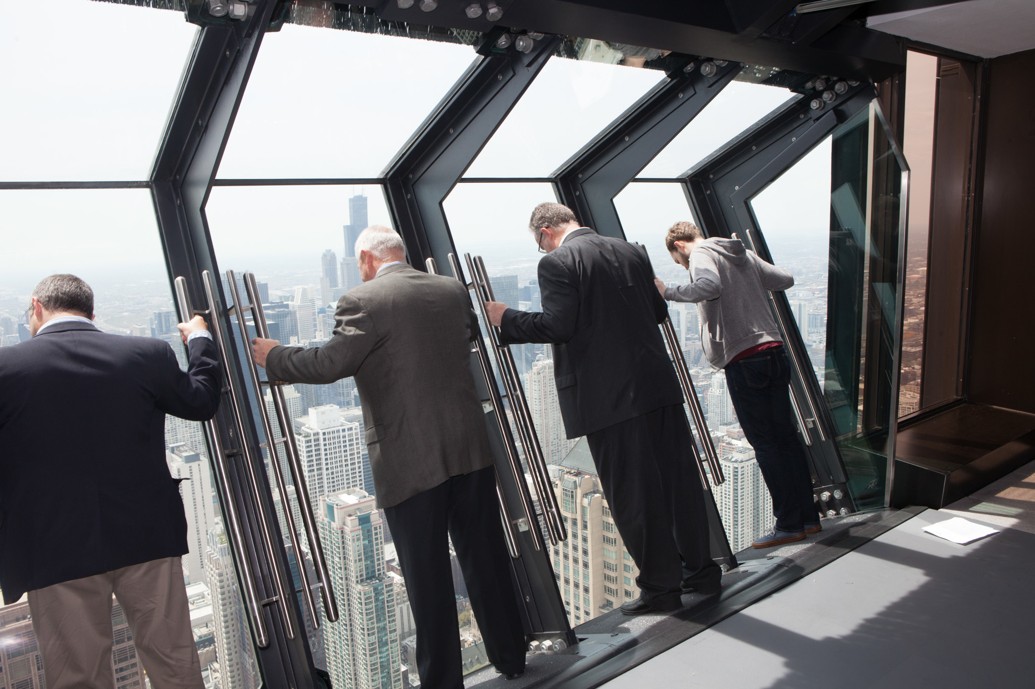 Tilt gives visitors a unique view of the city from the top of the John Hancock Center.