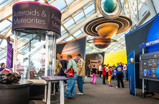 """Destination Solar System"" takes visitors to the Adler Planetarium on a journey through space."