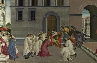 Sandro Botticelli  ('Three Miracles of Saint Zenobius', about 1500)