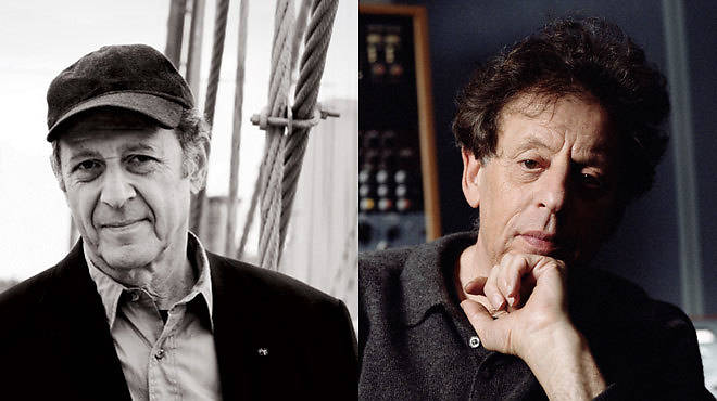 Steve Reich, Philip Glass (right)