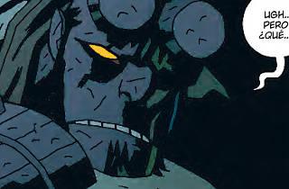 Una vinyeta de 'Hellboy en el infierno'
