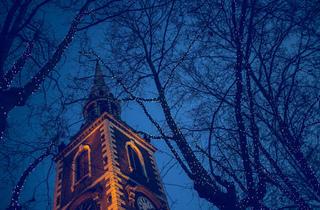 Blue dusk lights
