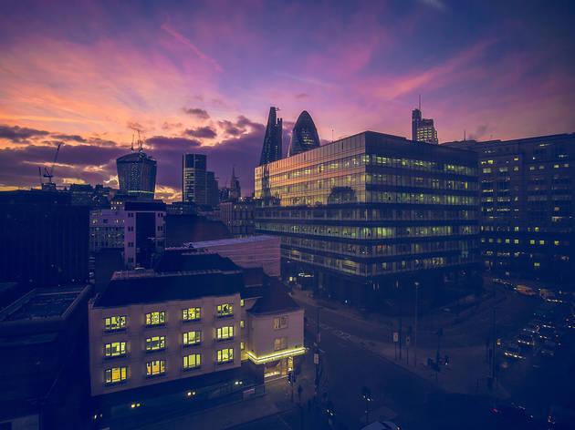 Sunset over Aldgate