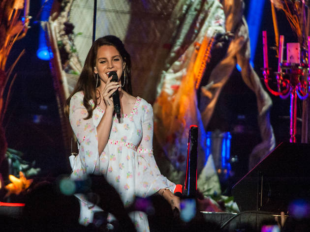 Lana Del Rey premieres songs from her upcoming 'Ultraviolence' at a sold out Aragon Ballroom, May 16, 2014.
