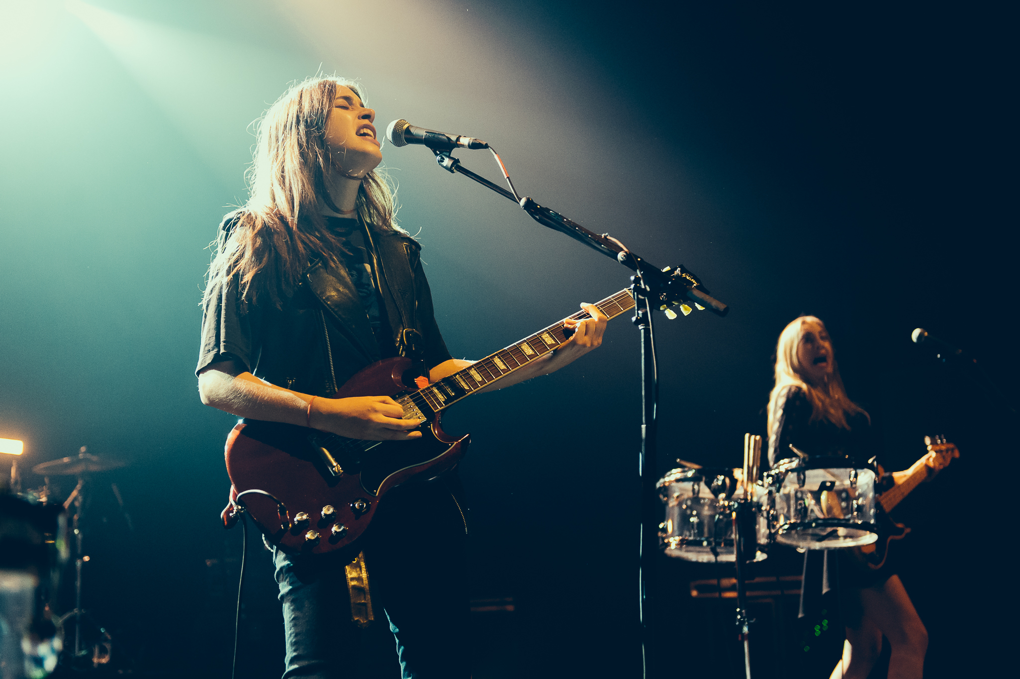 Haim performs at The Riviera Theatre on May 17, 2014.