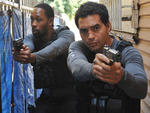 RZA as Cassius Green and Ramon Rodriguez as Ryan Lopez in Gang Related