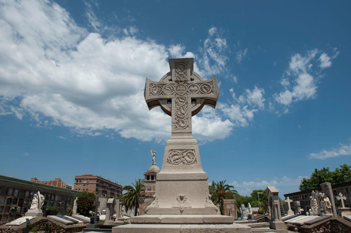 Creu Cèltica, cementiri de Monjtuïc