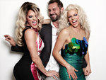 Willam, Magnus Hastings and Courtney Act