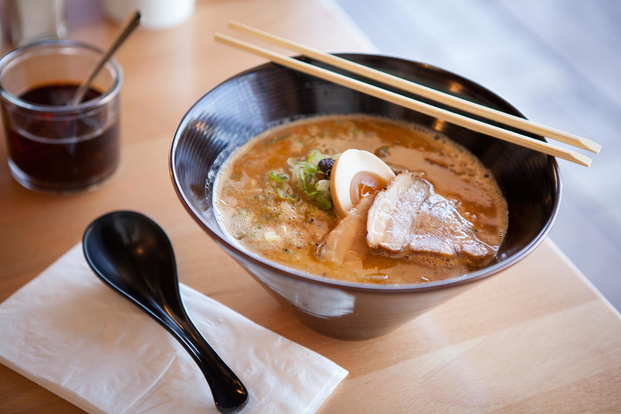 Burnt pork kogashi miso ramen at Ramen by Omae