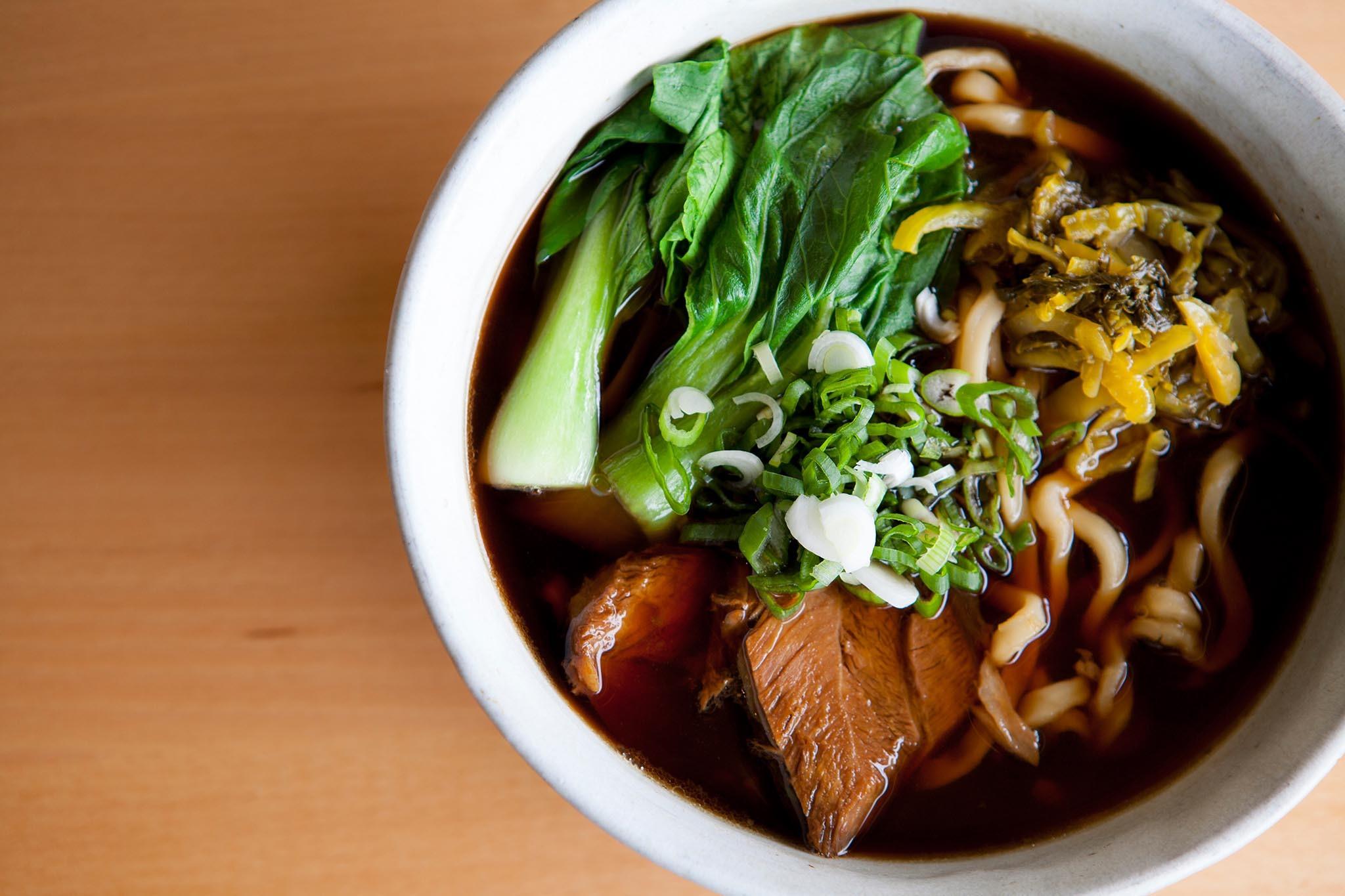 Beef noodle soup at Pine & Crane