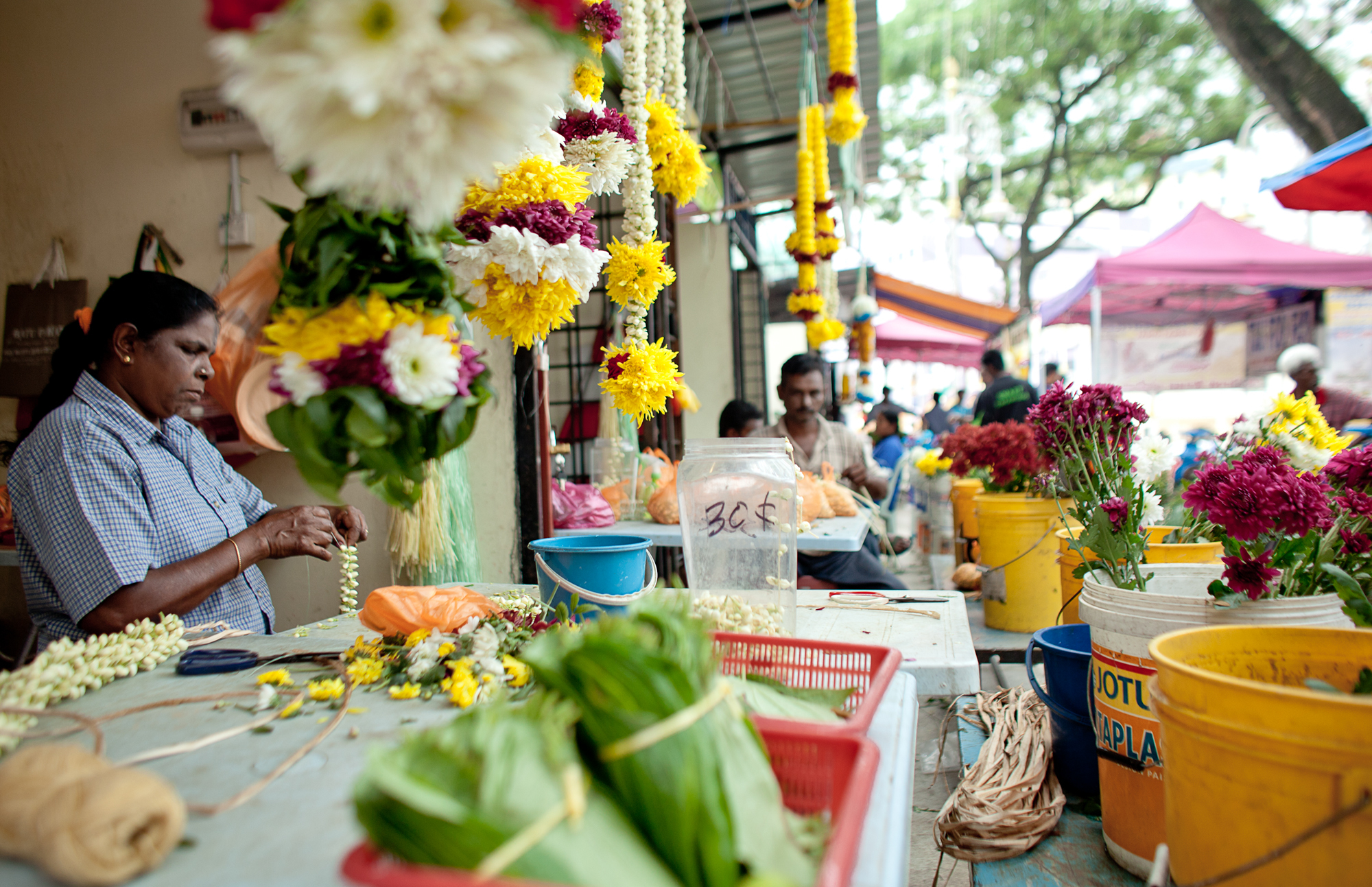 Brickfields flower stall