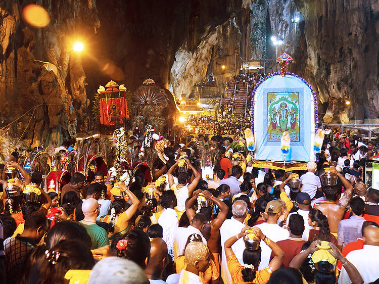 Join in the annual Thaipusam procession at Batu Caves