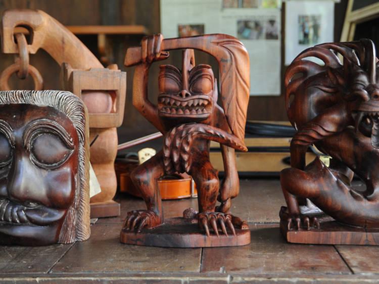 Make your way to Pulau Carey for sculptures and spiritual healing