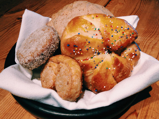 Mexican pastry basket at Frontera Grill