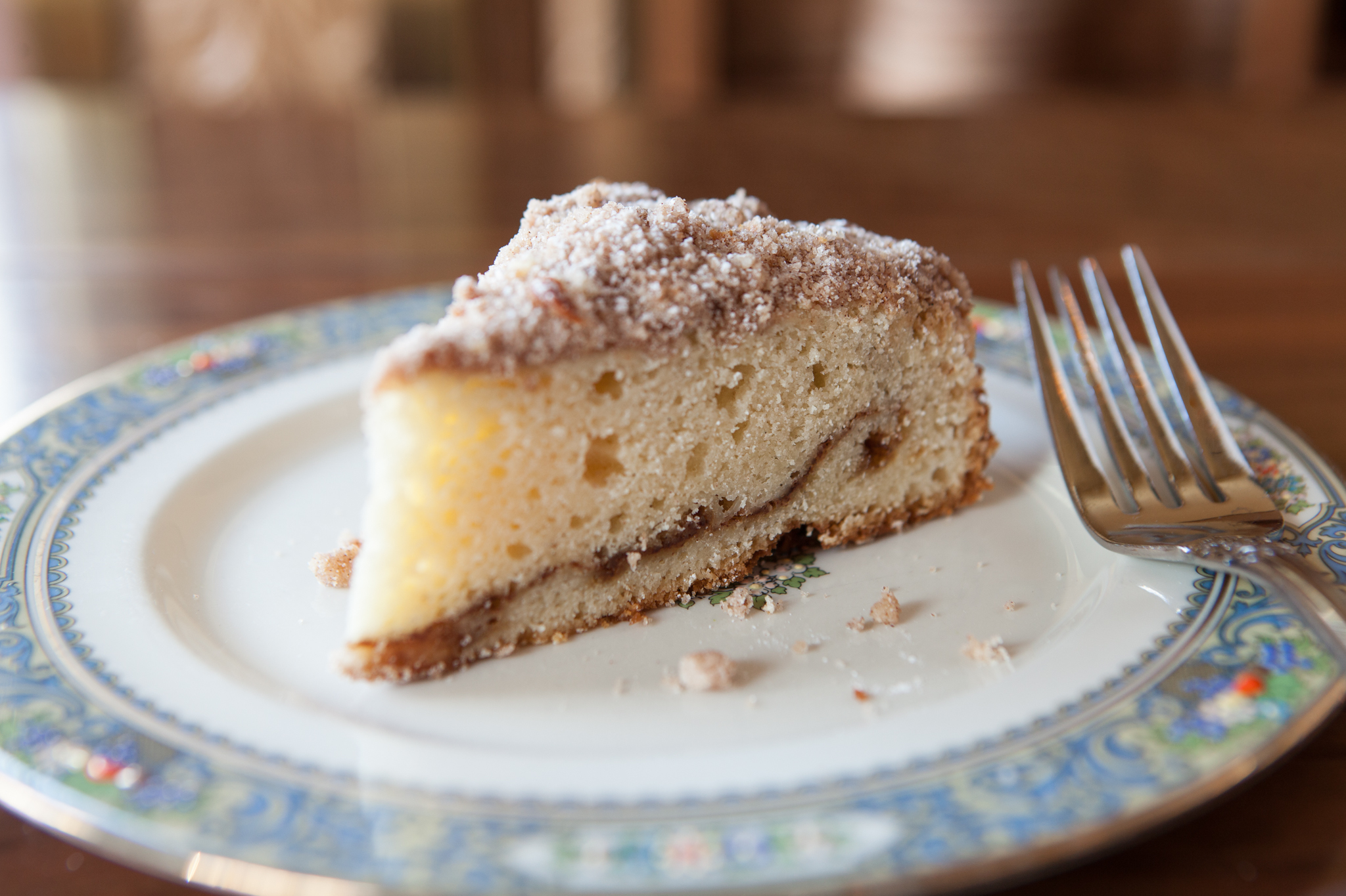 Cinnamon streusel coffee cake at the Publican