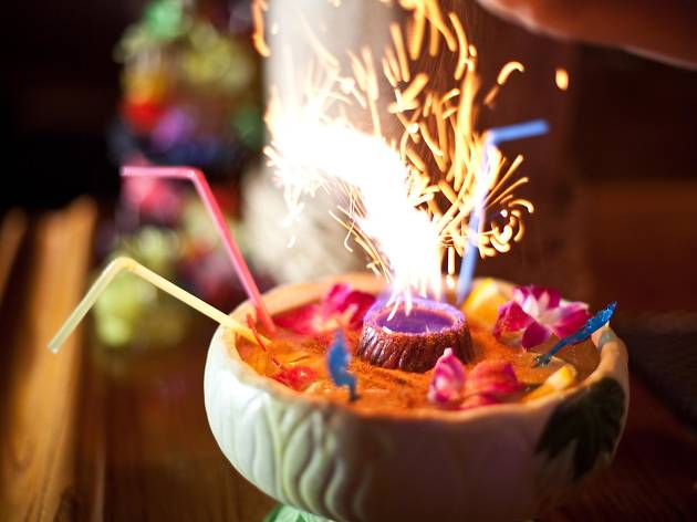 <p>Scorpion Bowl at Tiki No</p>