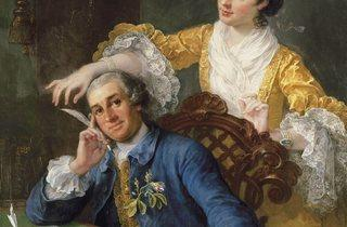 William Hogarth ('David Garrick and his Wife, Eva-Maria Veigel', 1757-64)