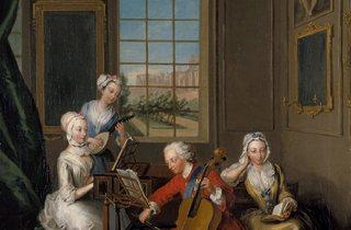 Philippe Mercier ('The Music Party, Frederick Prince of Wales with his Three Eldest Sisters', 1733)