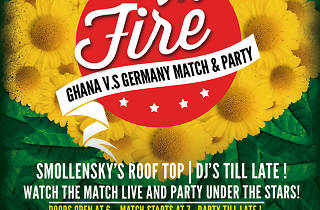 Roof on Fire party Ghana vs. Germany at Smollensky's Roof Top Bar, Accra, Ghana
