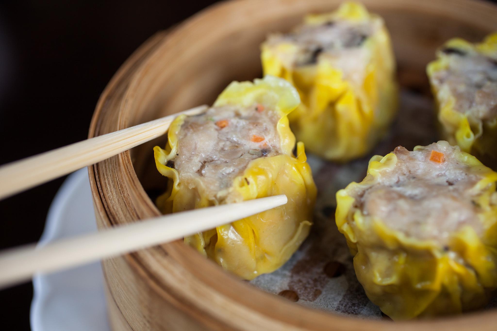 Chicken and mushroom sui mai at Yum Cha Dim Sum Parlor.
