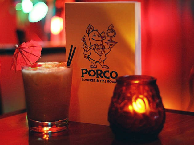 Porco Lounge is a tiki spot in Cleveland.