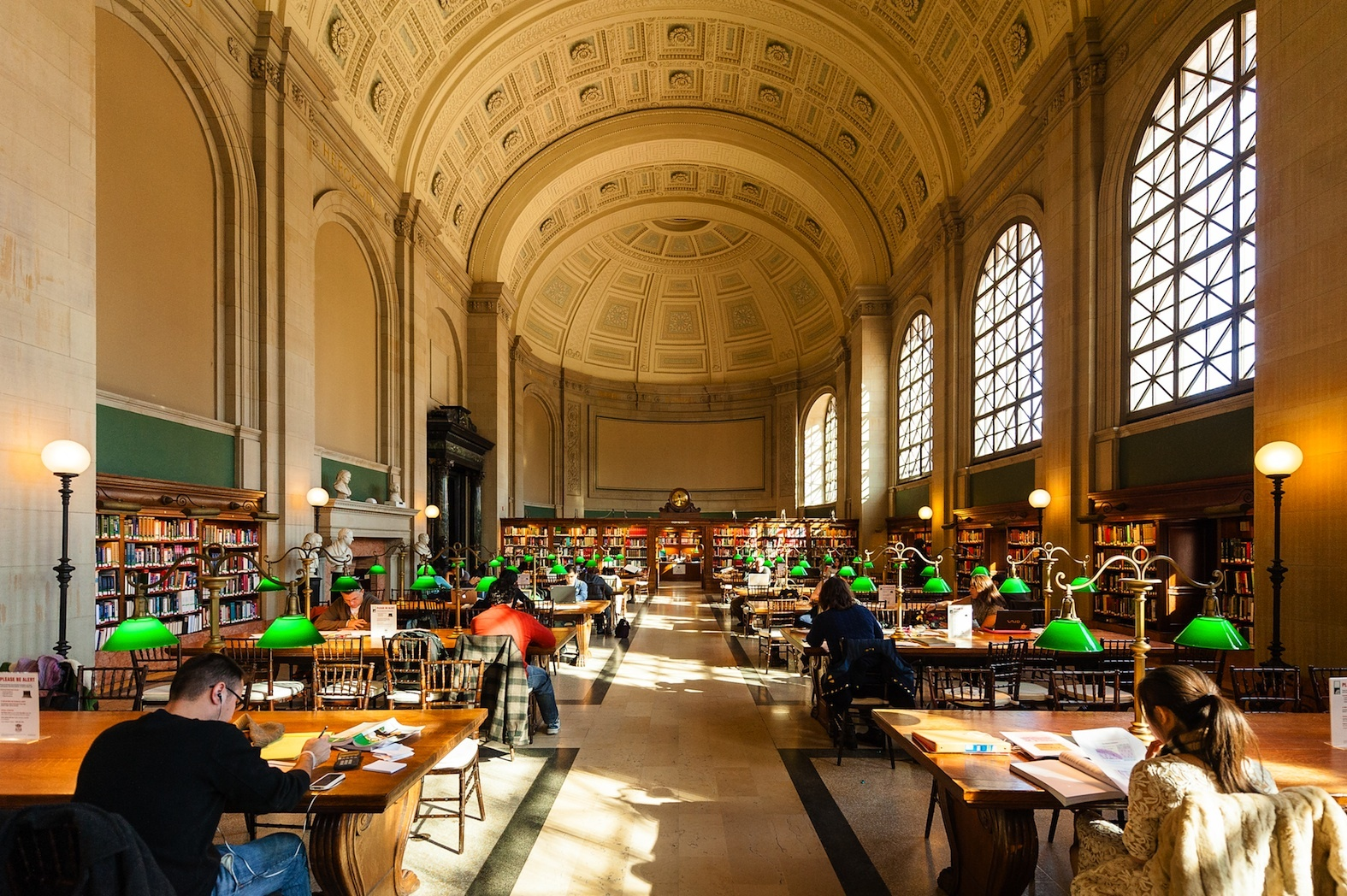 Take an architectural or art tour of the Boston Public Library