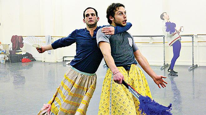 Craig Salstein and Roman Zhurbin rehearse Cinderella