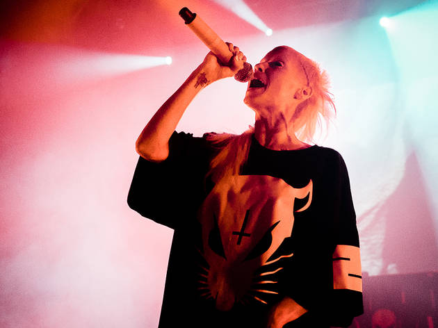 Die Antwoord, the South African hip hop trio, performs at The Riviera Theatre on June 3, 2014.