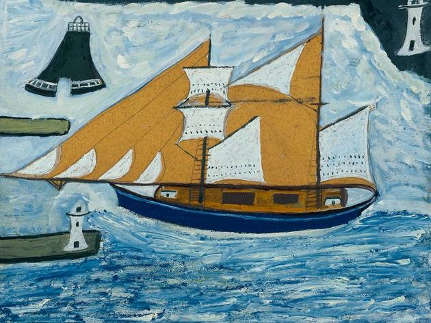 'The Blue Ship' (c1934, Alfred Wallis)