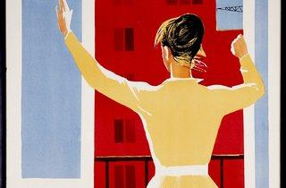 ('It's Time for a Grand Housewarming', poster for a 1959 Soviet documentary on the new urban reforms. Courtesy GRAD and Moscow Design Museum )
