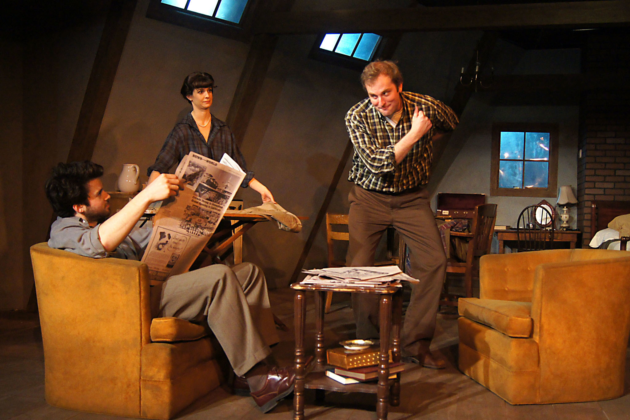 Japhet Balaban, Lucy Carapetyan and Joseph Wiens in Look Back in Anger at Redtwist Theatre