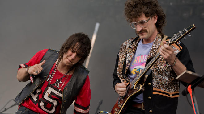Julian Casablancas + the Voidz perform at Governors Ball on June 6, 2014.