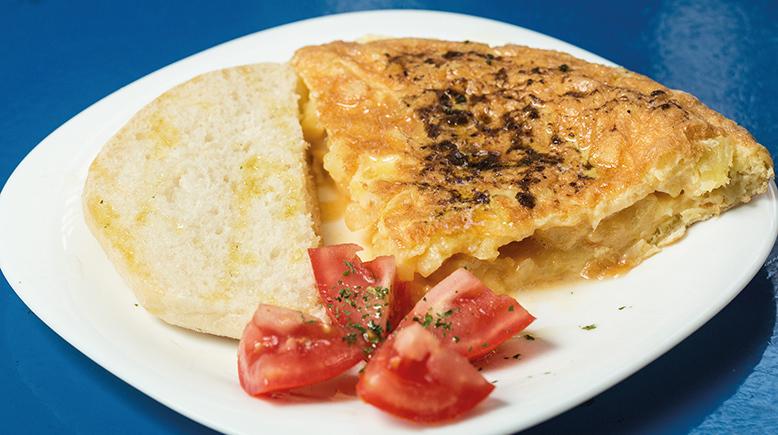 Tortilla dos trufas en El Nueve