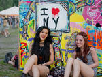 Music fans enjoy the festivities at Governors Ball on June 8, 2014.