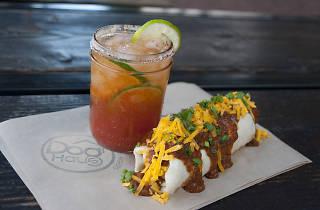 World Cup burrito at Dog Haus
