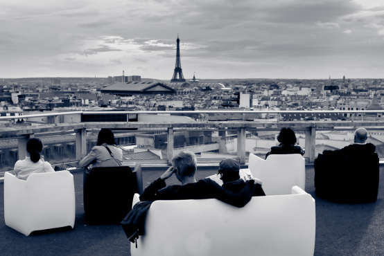 The terrace at Galeries Lafayette