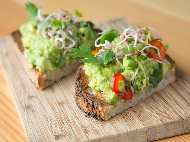 Avocado toast at Superba Food & Bread