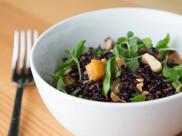 Black rice salad at Superba Food & Bread