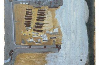 Alfred Wallis ('St. Ives Harbour, Hayle Bar and Godrevy and Fishing Boats', c1932-4)