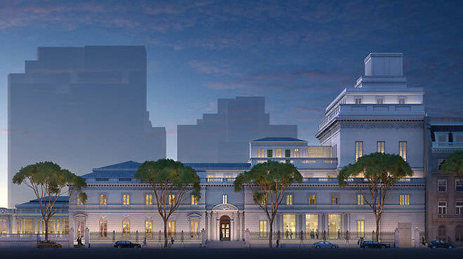 A rendering of the planned Frick Collection expansion