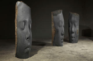 "Jaume Plensa, ""Paula, Rui Rui, and Awilda"", (2014), Basalt"