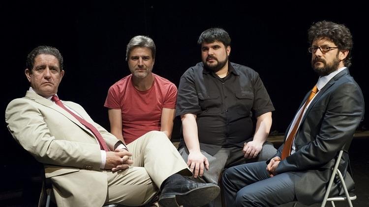 Pedro Casablanc, Alberto San Juan, Jordi Casanovas y Manolo Solo en Ruz-Bárcenas