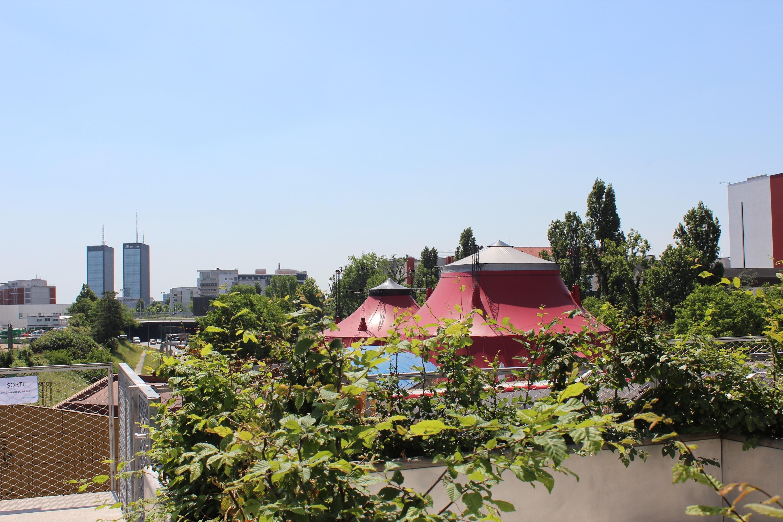 Les Sardignac sur le toit, terrasse du cinéma Etoile Lilas