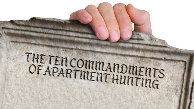 The ten commandments of apartment hunting in NYC