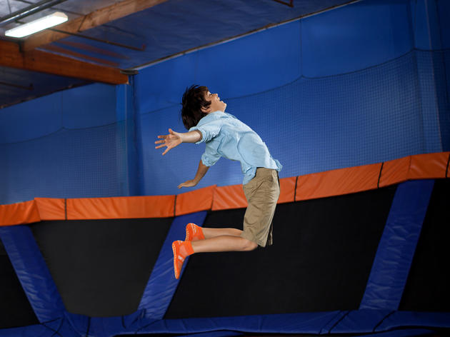 Take flight in an indoor trampoline park