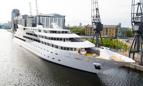 Can you stay in a super yacht hotel in London?