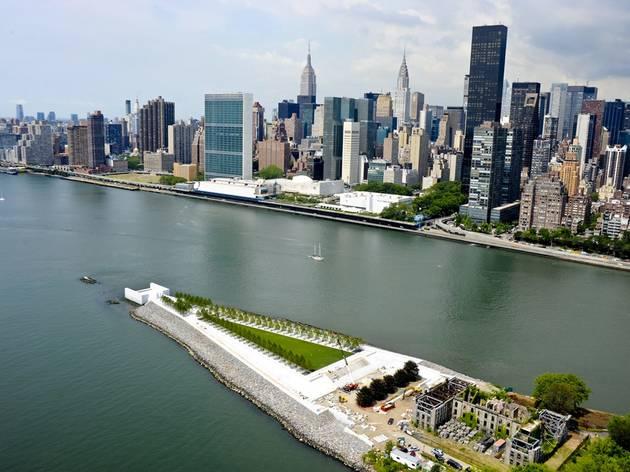 (Franklin D. Roosevelt Four Freedoms Park, New York, 1973-2012, Louis Kahn © Photo www.amiaga.com)