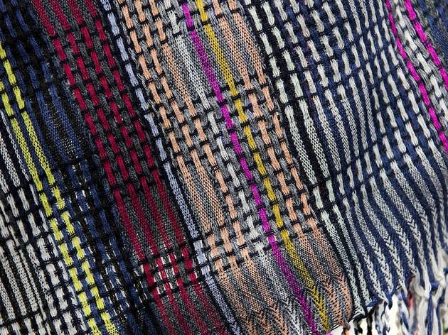 (Woollen rebozo (detail), 2014  Design by Wallace#Sewell Photo © Fashion and Textile Museum)